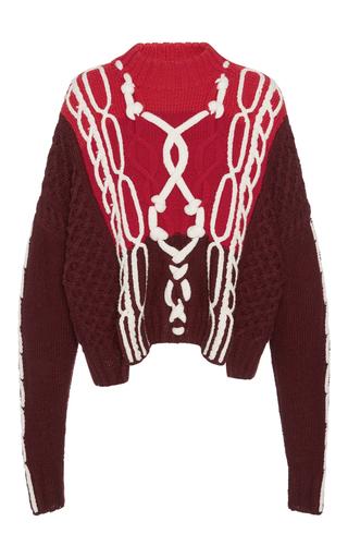 Medium spencer vladimir burgundy the knotty marine sweater