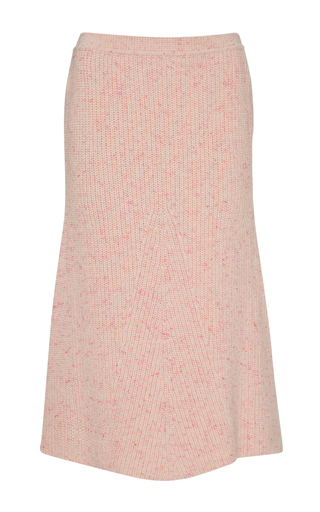 Medium orley pink ribbed cashmere a line skirt