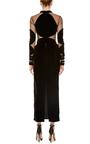 Long Sleeve Midi Length Velvet Dress by NAEEM KHAN Now Available on Moda Operandi
