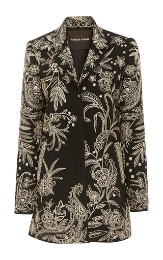 Medium naeem khan black embroidered cape jacket