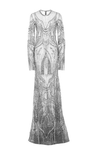 Medium naeem khan gold long sleeve column gown