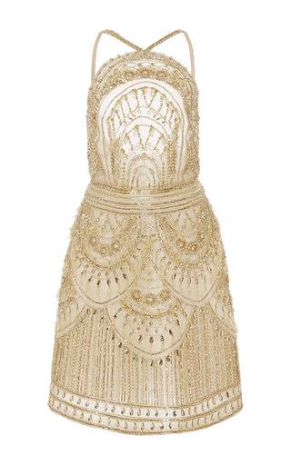 Medium naeem khan gold beaded cocktail dress