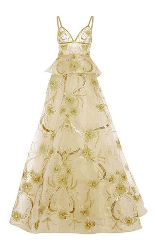 Medium naeem khan gold gazaar a line gown