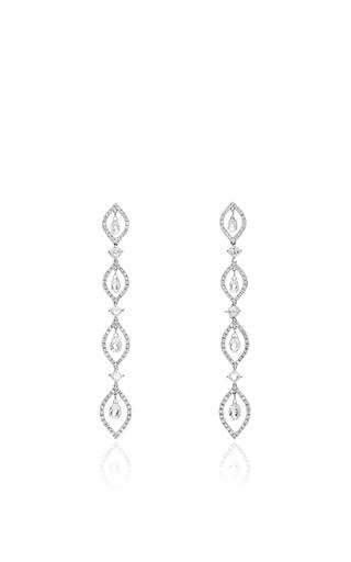 Medium giovane silver briolette diamond earrings
