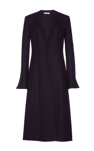 Medium protagonist navy wool cashmere a line jacket