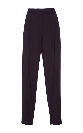 Medium protagonist black black gabardine tapered trousers