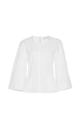 Medium protagonist white cotton bell sleeve shirt