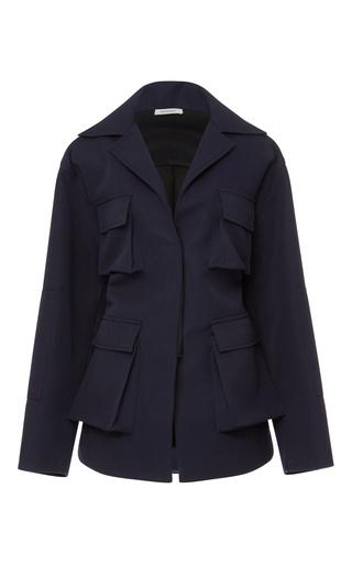 Medium protagonist navy canvas utility jacket