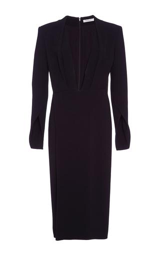 Medium protagonist black deep v neck crepe cady dress