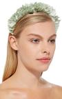 Aqua Flock Headband by YUNOTME Now Available on Moda Operandi