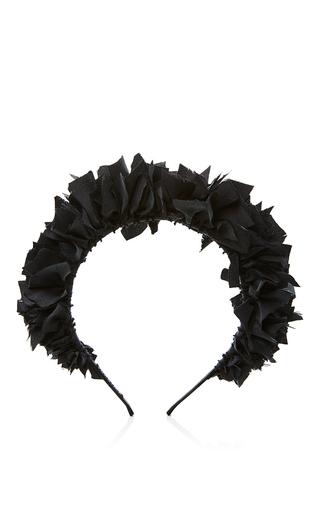 Black Flock Headband by YUNOTME Now Available on Moda Operandi