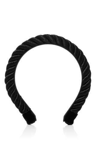 Medium yunotme black rosemary rope headband