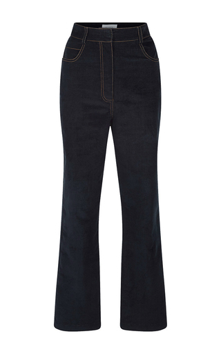 Medium isa arfen black velvet denim jeans