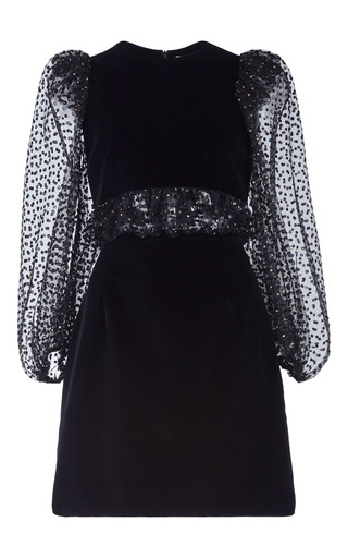 Medium isa arfen black puff sleeve party dress