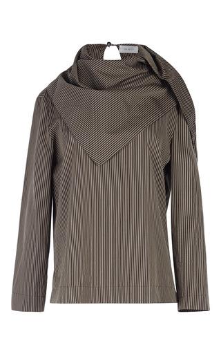 Medium isa arfen brown striped scarf top