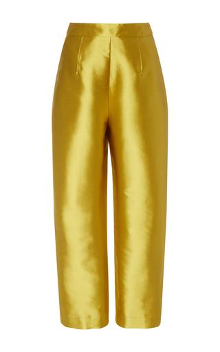 Medium isa arfen gold silk vicious classic trousers