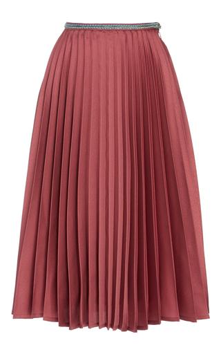 Medium leur logette pink satin pleats skirt