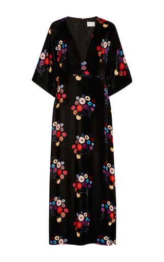 Medium tanya taylor floral floral velvet rena dress