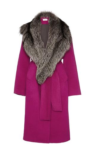 Medium tanya taylor pink wool candice coat