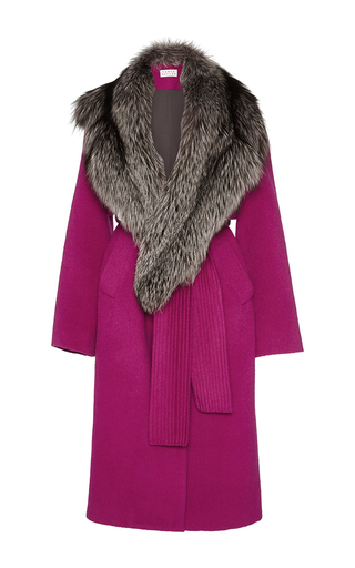 Medium tanya taylor pink wool candice coat
