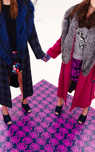 Wool Candice Coat by TANYA TAYLOR Now Available on Moda Operandi