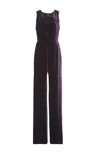 Medium saloni purple jules velvet jumpsuit