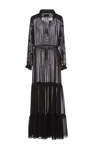 Alexia Dobby Georgette Dress by SALONI Now Available on Moda Operandi