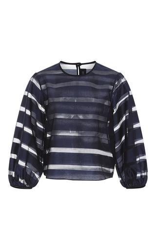 Medium saloni stripe thea organza striped blouse