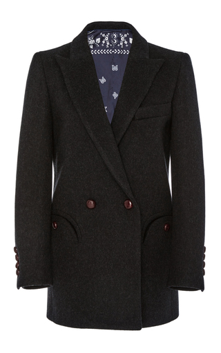 Medium blaze dark grey double breasted blazer 2