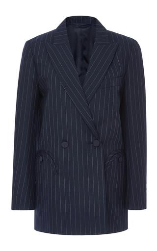 Medium blaze navy double breasted pinstripe blazer