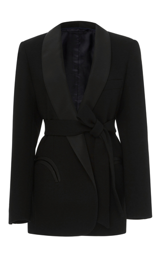 Medium blaze black shawl collar smoking jacket