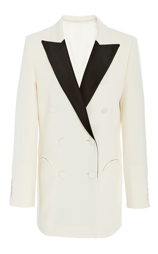 Medium blaze off white contrast double breasted blazer