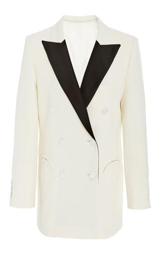 Medium blaze off white contrast double breasted blazer