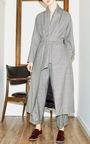 Windowpane Wrap Coat by CHRISTINE ALCALAY Now Available on Moda Operandi