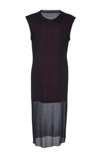 Medium public school black uma aloise rib knit dress