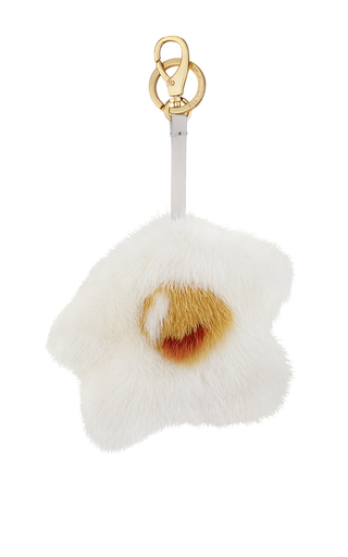 Medium anya hindmarch white egg tassel