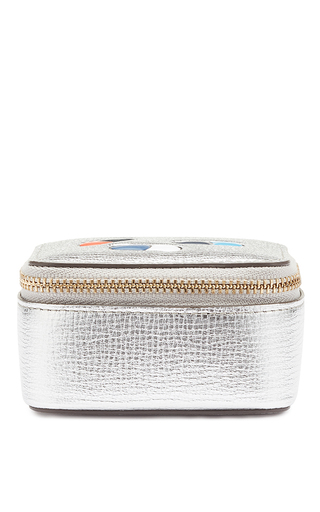 Medium anya hindmarch silver box pills keepsake box