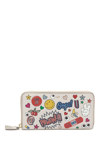 Medium anya hindmarch white large zip round wallet