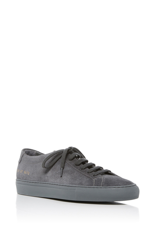 Medium common projects  2 dark grey achilles lace up sneakers