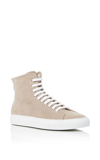 Medium common projects  2 light grey tournament high sneakers 2