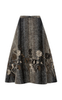 A Line Midi Skirt by CO Now Available on Moda Operandi