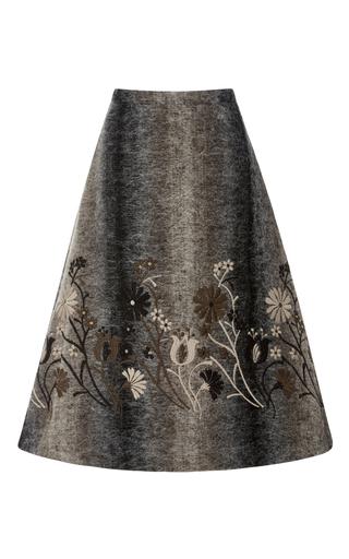 Medium co brown a line midi skirt
