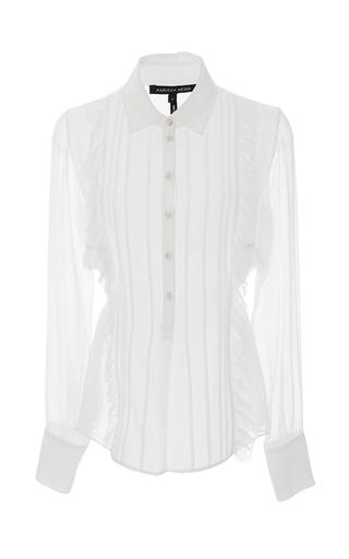 Medium marissa webb white white iman crinkle silk blouse
