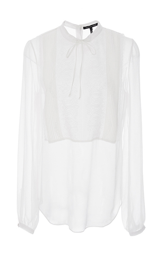 Medium marissa webb white misty georgette blouse