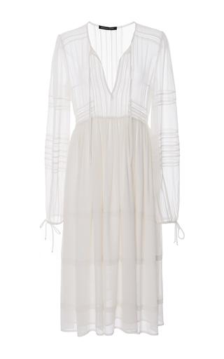 Medium marissa webb white bella crinkle georgette dress