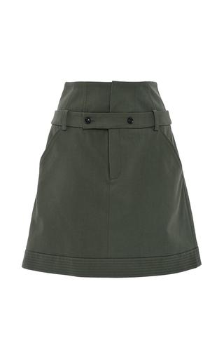 Medium marissa webb khaki ricky coated canvas skirt