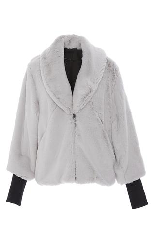 Medium marissa webb light grey aria luxe faux fur coat