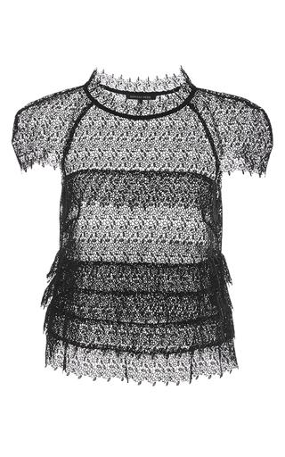 Medium marissa webb black black austin lace cropped shell