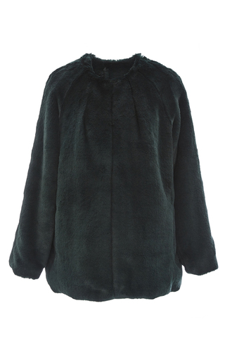 Medium marissa webb dark green chase luxe faux fur coat