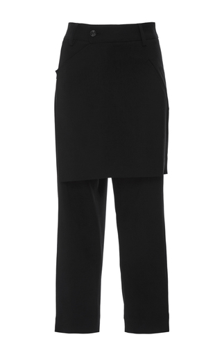 Medium marissa webb black kori crepe apron pants